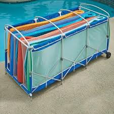 Another great storage idea for pool floats