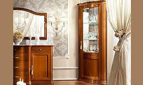 eckvitrine eckschrank nussbaum massivholz glas holz front klassische stil möbel