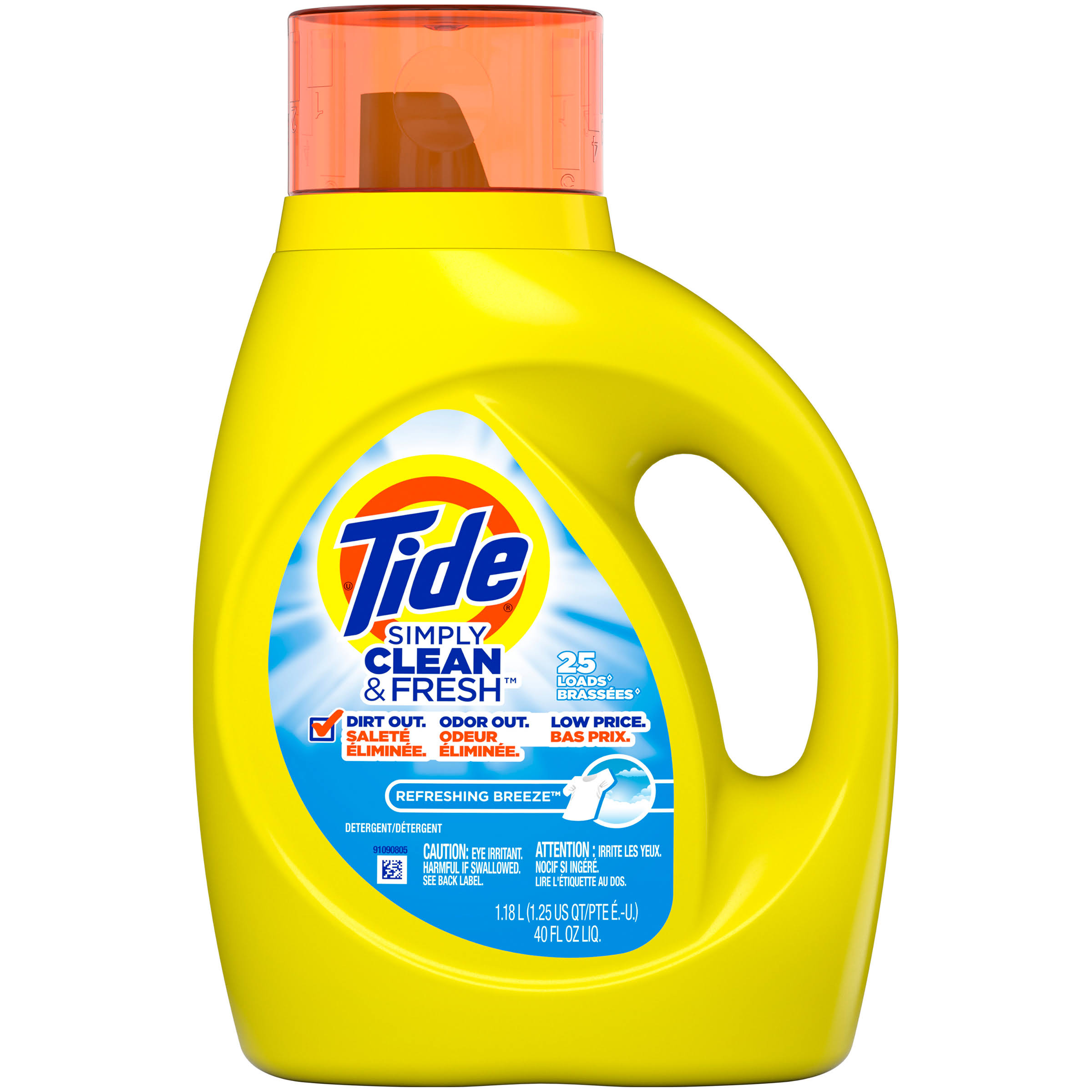 Tide Simply Clean & Fresh Detergent - Refreshing Breeze, 25 loads, 40oz