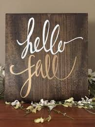 Hello Fall Wood Sign Gold Decor Pallet Art Rustic DecoraEUR Home Ideas Interior Design Tips