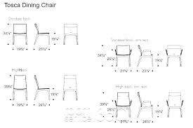 Standard Dining Room Chair Height Amazing Dimensions Easy