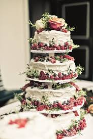 Tiered Cake Stand With Berries For A Perfect Winter Wedding