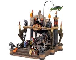 Lemax Halloween Village 2017 by Amazon Com Lemax Spooky Town Village Collection Monsters Ball