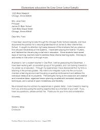 Sample Cover Letter For Teaching Job Resume Teacher