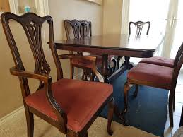 Dinning Table Solid Cherry Oak Wood 6 Chairs In RG2 Wood For £395.00 ... Kitchen Ding Room Fniture Scdinavian Designs Cape Cod Lawrence Dark Cherry Extension Table W6 Tom Seely Solid W 6 Chairs Sets And Chair Dock86 Universal Upscale Consignment 26 Big Small With Bench Seating 2019 Gently Used Ethan Allen Up To 50 Off At Chairish East West Nido6bchw Pc Ding Room Set Bkitchen Tables 4 Plus Bench In Black Cherryfinishblack And Cm88 Roccommunity Steve Silver Tournament Arm Casters Set Of 2 Oval American Drew Cherry 7 Pieces Used Leaf Finish Glass Top Modern Woptional Items