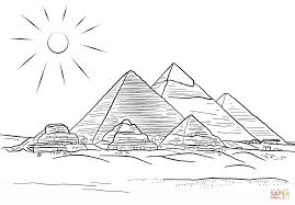 Click The Giza Pyramids Coloring Pages To View Printable Version Or Color It Online Compatible With IPad And Android Tablets