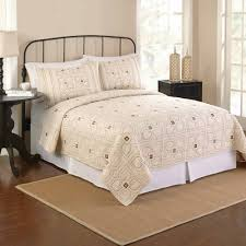 Bed Skirts Queen Walmart by Better Homes And Gardens Orion Bedding Quilt Ivory Walmart Com
