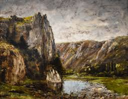 100 Rocky Landscape Gustave Courbet 1858 At New Orleans Mus