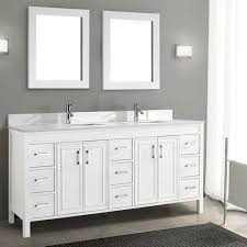 Bathroom Vanity With Tower Pictures by Bathroom Furniture Dual Integrated Sinks Navy Dark Gray Master