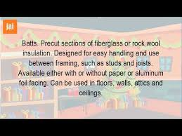 Insulating Cathedral Ceilings Rockwool by What Is The Use For Batt Insulation Youtube
