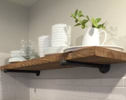 kitchen shelves pipe etsy