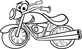 Transportation Coloring Sheet Little Boy Pilot Motorcycle