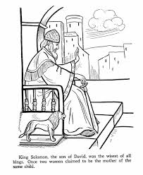 King Solomon Bible Story Coloring Page