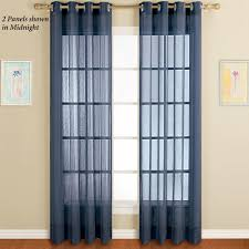Blue Crushed Voile Curtains by Sheer Curtains U0026 Window Treatments Touch Of Class