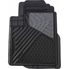 Go Gear Heavy Duty Rubber Mat Mid Truck Black 4-Piece Set - Walmart.com