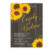 Sunflower Rustic Wedding Reception Only Invitation