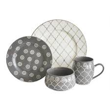 Moroccan 16 Piece Dinnerware Set Service For 4