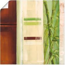 artland wandbild bambus ii gräser 1 st in vielen größen produktarten alubild outdoorbild für den außenbereich leinwandbild poster