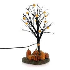 Dept 56 Halloween Village Ebay by Department 56 Accessory Lit Jack O Lantern Tree Village Lighted