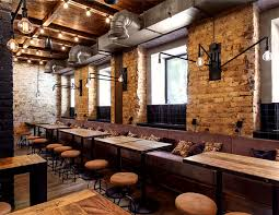 A Lovely Restaurant And Lounging Area In One Of Our Favourite Styles Industrial We Can Offer The Furniture Used Bottega Wine Tapas Bar At Great