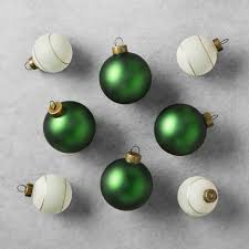 Gorgeous Green And Gold Christmas Ornaments By Joanna Gaines At Target