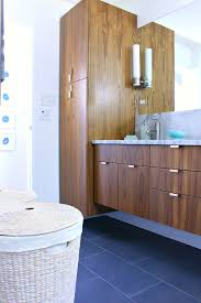 Bathroom Vanity Tower Dimensions by A Mid Century Modern Inspired Bathroom Renovation Before After