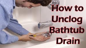 bathtub how to unclog bathtub drain unclogging a slow drain