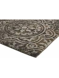 heine home kleiner teppich flur diele esszimmer uni antik optik grau ca 57x90 cm