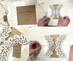 White Rustic Wedding Invitation Cards Customized Kraft Invitations Set Of 50 In From Home Garden On Aliexpress