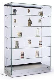 48 w glass display cabinet with 5 height adjustable