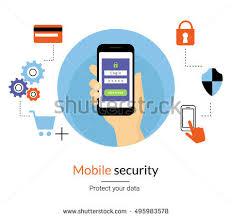 Mobile Website Authentication Concept Line Illustration Stock
