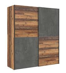 schwebetürenschrank kleiderschrank dederik wood vintage und beton