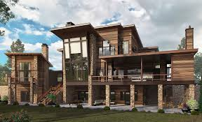 100 Downslope House Designs Plan 12945KN Dramatic Northwest Home With Contemporary Styling