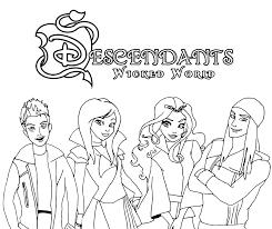 Disney Descendants Coloring Pages Evie Ideas