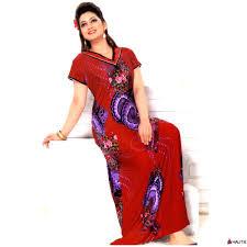 ladies plus size long nightdress cotton nightie womens printed