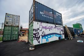 100 Kansas City Shipping Iron District Transforms Shipping Containers Into Food Hall