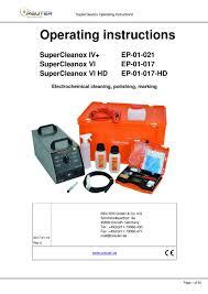 reuter supercleanox iv operating manual pdf