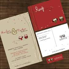 Cute Owl Wedding Invitations Invitation Sample Packet Owl Love