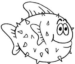 Puffer Fish Coloring Page Free Printable For Kids