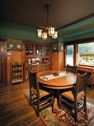 Arts Crafts Dining Room With Built In Buffet