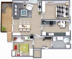 2 Bedroom Apartments For Rent Under 1000 two bedroom small house plans under 1000 sq ft 3d designs with