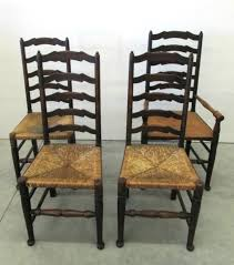 Tall Ladder Back Chairs With Rush Seats by 4 Antique Ladder Back Rush Seat Chairs