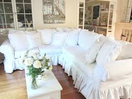 Shabby Chic Sofa Covers And Sectional Sofas With Ruffled Skirt Custom Slipcover 2