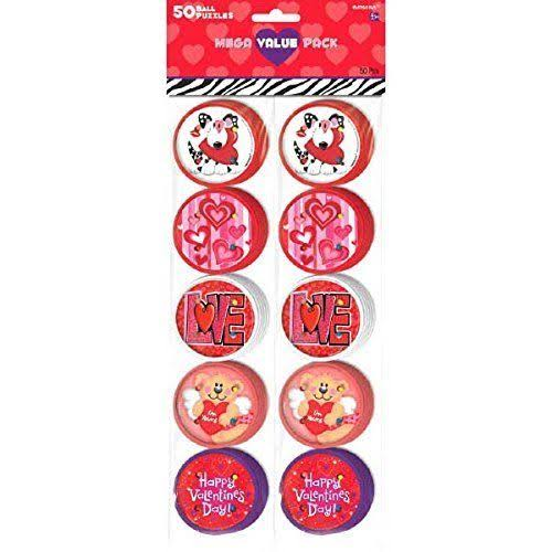 Amscan Valentines Day Plastic Ball Puzzles - 50ct