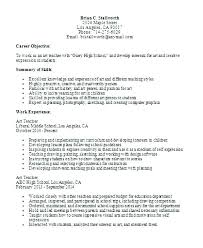 Elementary School Teacher Resume Objective Example High Sample Directory