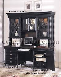 aspenhome young classics black executive desk