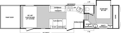 Raptor 5th Wheel Toy Hauler Floor Plans by 2005 Raptor Rp3319 Toy Hauler 5th Wheel