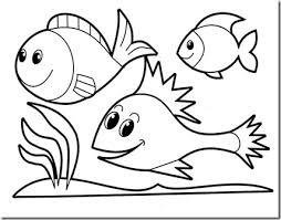 Coloring Pages Printable Simple Ideas For Preschoolers Fish Underwater Sea Grash Many Variation Uncolor