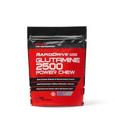 Glutamine Before Bed by Rapiddrive Glutamine 2500 Power Chews Grape Berry