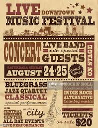 Musical Festival Poster Design Template Vector Art